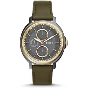 Fossil ES3833 Horlogeband Groen Leer