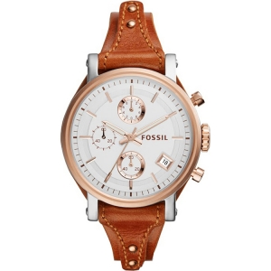 Fossil ES3837 Horlogeband Bruin Leer