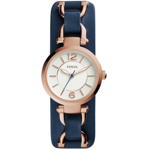 Fossil ES3857 Horlogeband Blauw Leer