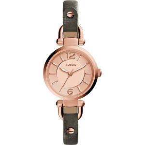 Fossil ES3862 Horlogeband Grijs Leer
