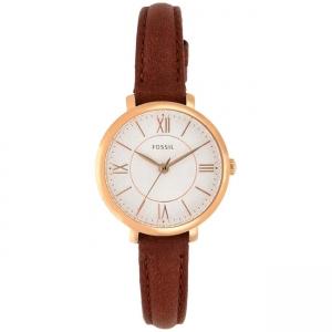 Fossil Jaqcueline Mini ES4412 Horlogeband Bruin Leer