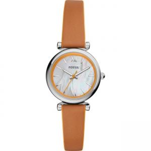 Fossil Carlie Mini ES4835 Horlogeband Bruin Leer
