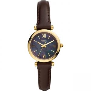 Fossil Carlie Mini ES4968 Horlogeband Bruin Leer