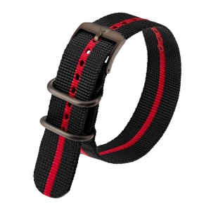 Luminox 3050, 3060, 3080, 3090, 3150, 3950 ZULU Strap Black Red Nylon 23mm - FN.3950.30