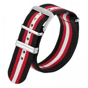 Luminox 3050, 3060, 3080, 3090, 3150, 3950 NATO Strap Black Red White Nylon 23mm - FN.2301.20Q.2