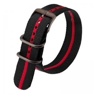 Luminox 3050, 3060, 3080, 3090, 3150, 3950 ZULU Strap Black Red Nylon 23mm - FN.3950.30