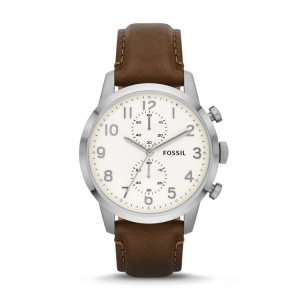 Fossil FS4872 Horlogeband Bruin Leer