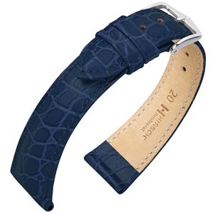Hirsch Aristocrat Horlogebandje Crocograin Blauw