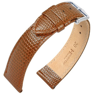 Hirsch Rainbow Horlogebandje Lizardgrain Goudbruin