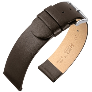 Hirsch Scandic Horlogebandje Bruin Kalfsleer