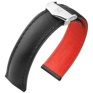 Hirsch Speed Horlogeband voor TAG Heuer Vouwsluiting Zwart