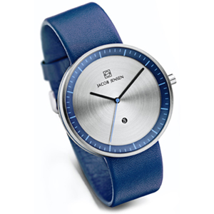 Jacob Jensen horlogeband Strata 272 Blauw Leer 20mm