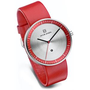 Jacob Jensen horlogeband Strata 273 Rood Leer 20mm