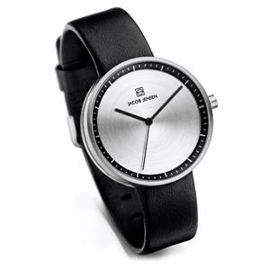 Jacob Jensen horlogeband Strata 280, 284 Zwart Leer 16mm