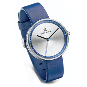 Jacob Jensen horlogeband Strata 282 Blauw Leer 16mm