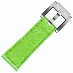 Marc Coblen / TW Steel Horlogeband Lichtgroen Leer Alligator 22mm