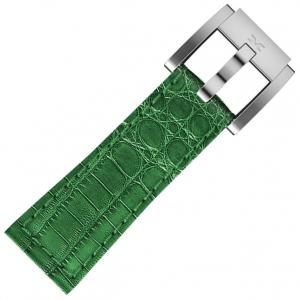 Marc Coblen / TW Steel Horlogeband Donkergroen Leer Alligator 22mm