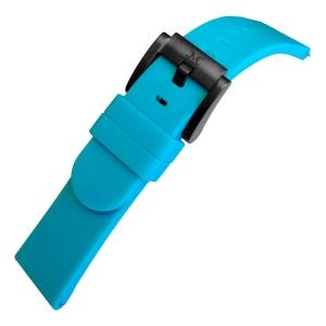 Marc Coblen / TW Steel Silicone Horlogeband Turquoise 22mm