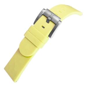 Marc Coblen / TW Steel Silicone Horlogeband Pastel Geel 22mm