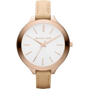 Michael Kors MK2284 Horlogeband Beige Leer