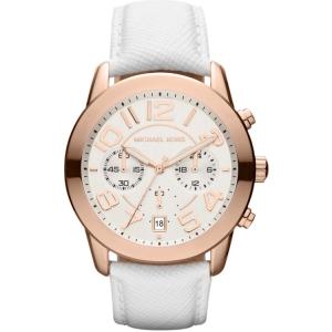 Michael Kors MK2289 Horlogeband Wit Leer
