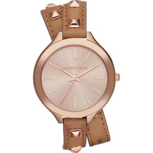 Michael Kors MK2299 Horlogeband Bruin Leer