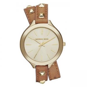Michael Kors MK2309 Horlogeband Bruin Leer