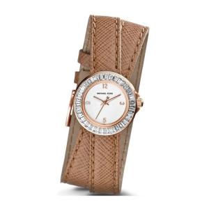 Michael Kors MK2338 Horlogeband Bruin Leer
