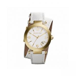 Michael Kors MK2345 Horlogeband Wit Leer