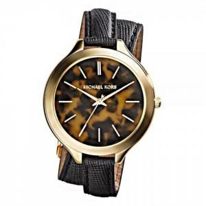 Michael Kors MK2346 Horlogeband Zwart Leer