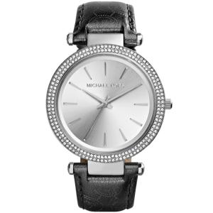 Michael Kors MK2350 Horlogeband Zwart Leer