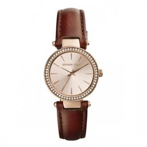 Michael Kors MK2353 Horlogeband Bruin Leer