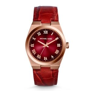 Michael Kors MK2357 Horlogeband Rood Leer