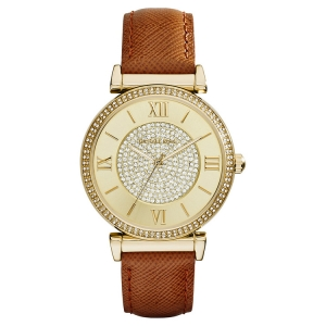 Michael Kors MK2375 Horlogeband Bruin Leer