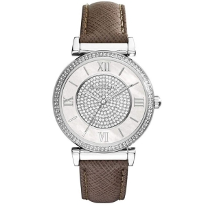 Michael Kors MK2377 Horlogeband Bruin Leer