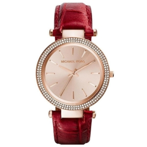 Michael Kors MK2383 Horlogeband Rood Leer