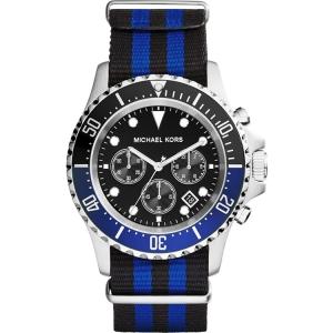 Michael Kors MK8398 Horlogeband Blauw-Zwart Nylon