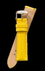 Fromanteel Alligatorgrain Horlogeband Geel