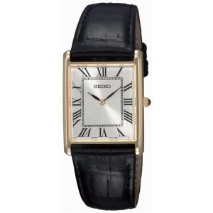 Seiko Horlogeband SFP608 Zwart Leer