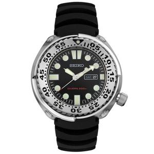 Seiko Sawtooth Horlogeband SHC063 Zwart Rubber