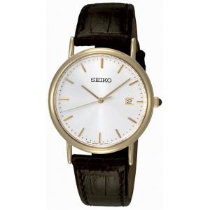 Seiko  Horlogeband SKK698P1 Bruin Leer