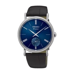Seiko Premier Horlogeband SRK037P1 Zwart Leer
