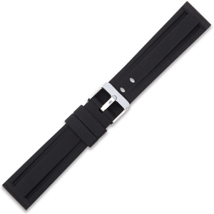 Silicone Rubberen Horlogebandje Panerai Style Zwart