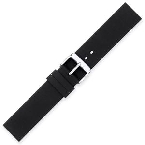 Silicone Rubberen Horlogebandje Plat Zwart