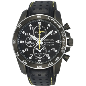 Seiko Sportura Horlogeband SNAE67P1 Zwart Leer