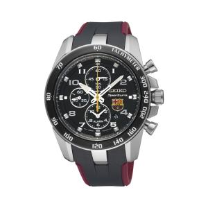 Seiko Sportura FC Barcelona Horlogeband SNAE93P1 Zwart, Rood Rubber