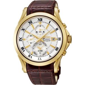 Seiko Premier Horlogeband SNAF22P1 Bruin Leer