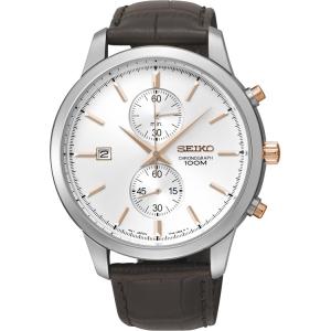 Seiko Quartz Horlogeband SNN277P1 Bruin Leer