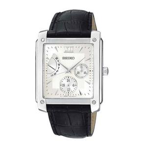 Seiko Horlogeband SNT007 Zwart Leer