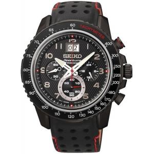 Seiko Sportura Horlogeband SPC141 Zwart Leer